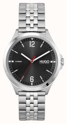 HUGO affaires de #costume | cadran noir | bracelet en acier inoxydable 1530216
