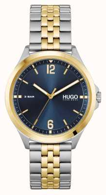 HUGO affaires de #costume | cadran bleu | bracelet en acier bicolore 1530219