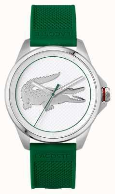 Lacoste Bracelet silicone vert Le croc 43 mm 2011157