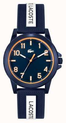 Lacoste Montre Rider bracelet silicone bleu et blanc 2020142