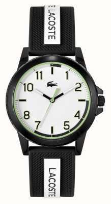 Lacoste Montre Rider bracelet silicone noir et blanc 2020141