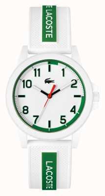 Lacoste Montre Rider bracelet silicone blanc et vert 2020140