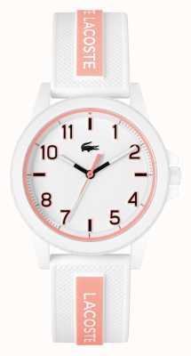 Lacoste Bracelet Rider en silicone blanc et rose 2020143