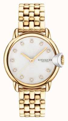 Coach Montre bracelet femme arden plaqué or 14503819