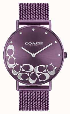 Coach Montre bracelet en maille violet perry pour femme 14503823