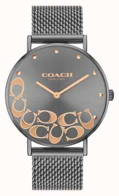 Coach Montre bracelet en maille gris perry pour femme 14503825