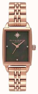 Olivia Burton Montre à cadran rectangle étoile du nord céleste OB16GD80