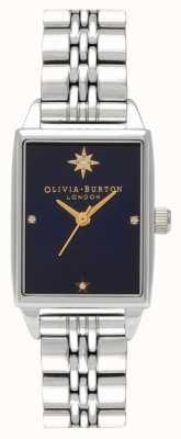 Olivia Burton Cadran rectangle en acier inoxydable étoile du nord céleste OB16GD88