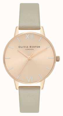 Olivia Burton Montre à cadran midi en or rose pâle, argent et gris OB16EN11