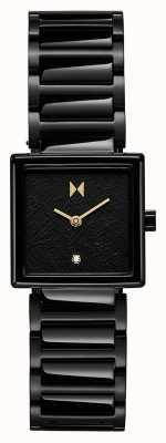 MVMT Boîtier carré Frost bracelet en acier plaqué noir 28000145-D