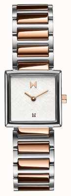 MVMT Bracelet en acier plaqué or rose boîtier carré Frost 28000147-D