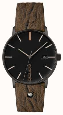 Junghans Forme un bracelet en cuir marron édition 160 27/4132.00