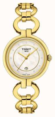 Tissot Cadran nacre flamant rose pour femme T0942103311600