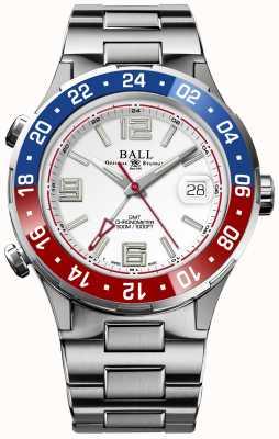 Ball Watch Company Cadran blanc édition limitée Roadmaster pilot gmt DG3038A-S2C-WH