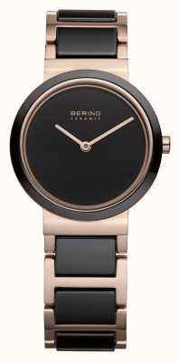 Bering Femmes | or rose poli | bracelet en or noir et rose 10729-746