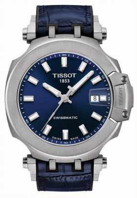 Tissot Course en t Swissmatic | cadran bleu | bracelet en cuir bleu T1154071704100