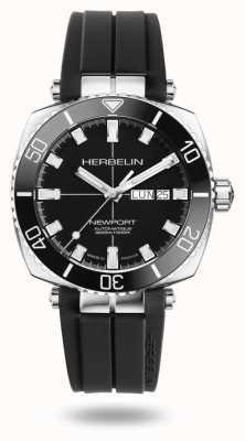 Michel Herbelin Montre bracelet en caoutchouc noir Newport Diver 1774/AN14CA
