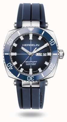 Michel Herbelin Bracelet caoutchouc bleu plongeur Newport 1774/BL15CB