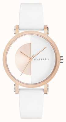 Klasse14 Bracelet en silicone blanc Im arch 32 mm blanc IM18RG007W