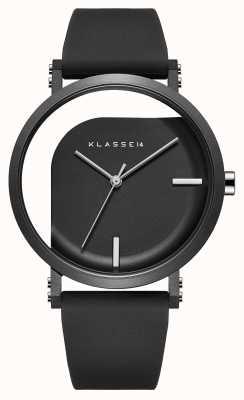 Klasse14 Bracelet en silicone noir à angle imparfait de 40 mm WIM19BK011M
