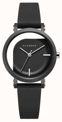 Klasse14 Bracelet en silicone noir à angle imparfait de 32 mm WIM19BK011W