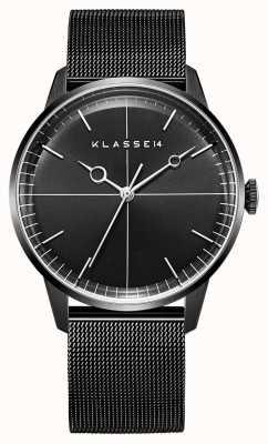 Klasse14 Bracelet Disco volante 40mm maille milanaise noire WDI19BB001M