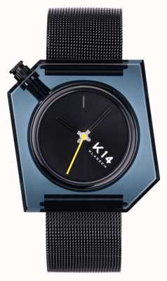 Klasse14 Bracelet maille milanaise noire K14 40 mm foncé WKF20BK001M