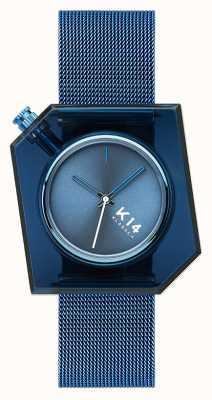Klasse14 Bracelet maille milanaise bleu K14 40mm WKF20BE002M