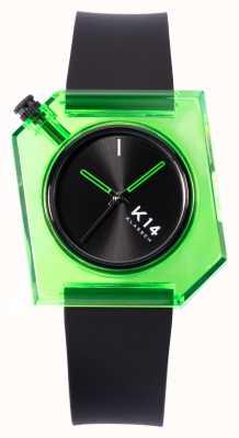 Klasse14 Bracelet en silicone noir K14 avo vert 40 mm WKF19GN001M