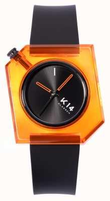 Klasse14 Bracelet en silicone noir K14 think orange 40 mm WKF19OE001M