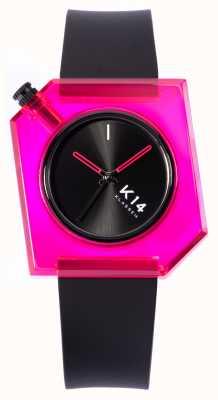 Klasse14 Poupée rose K14 40mm bracelet silicone noir WKF19PK001M