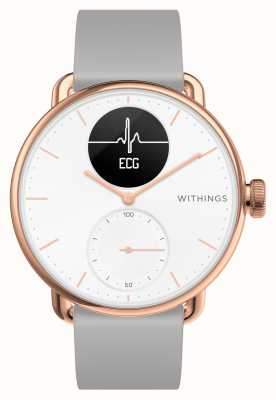 Withings Montre connectée hybride Scanwatch 38 mm en or rose avec ecg HWA09-MODEL 5-ALL-INT
