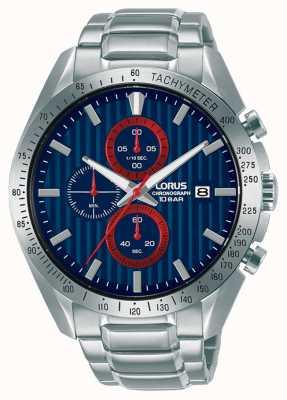 Lorus Montre chronographe de sport à quartz bleu RM307HX9