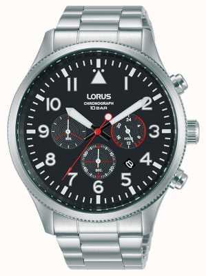 Lorus Bracelet chronographe à quartz en acier inoxydable RT363JX9