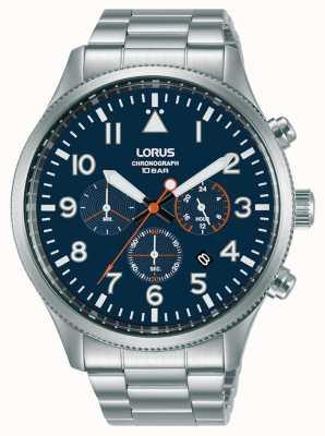 Lorus Chronographe quartz cadran bleu acier inoxydable RT365JX9