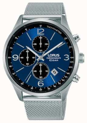 Lorus Bracelet acier maille chronographe cadran bleu RM315HX9