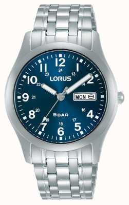 Lorus Montre à quartz classique 38 mm cadran bleu RXN77DX9