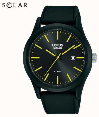 Lorus Montre solaire 42 mm bracelet silicone noir RX301AX9