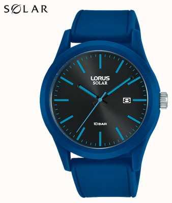 Lorus Montre solaire 42 mm bracelet silicone bleu RX305AX9