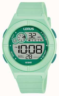 Lorus Montre digitale bracelet silicone vert menthe R2369NX9