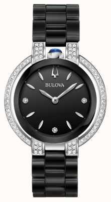 Bulova Rubaïyat | diamant | cadran noir | bracelet en céramique noire 98R266