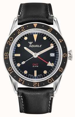 Squale Bracelet en cuir vintage pour homme 300 m sous 39 gmt SUB-39-GMT-V