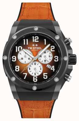 TW Steel Bracelet en caoutchouc et cuir orange Ace Genesis édition limitée ACE133