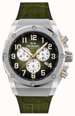 TW Steel Bracelet en caoutchouc et cuir vert édition limitée Ace Genesis ACE131
