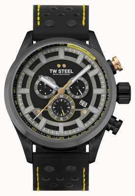 TW Steel Bracelet en cuir noir Volante Fast Lane SVS207