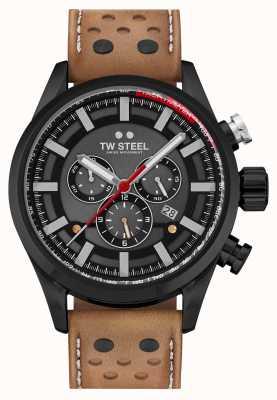 TW Steel Bracelet en cuir marron Volante Fast Lane SVS209