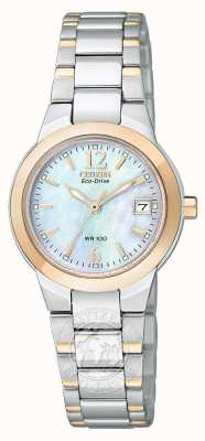 Citizen Ladies deux tons rose silhouette d'or éco-conduite EW1676-52D