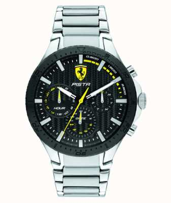 Scuderia Ferrari | piste double piste | cadran noir texturé | 0830854