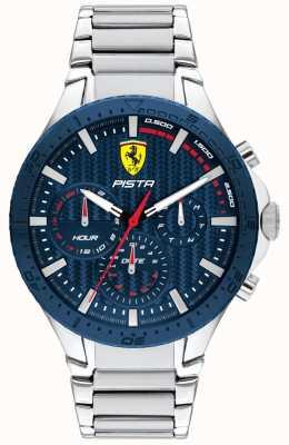 Scuderia Ferrari | piste double piste | cadran texturé bleu | 0830855