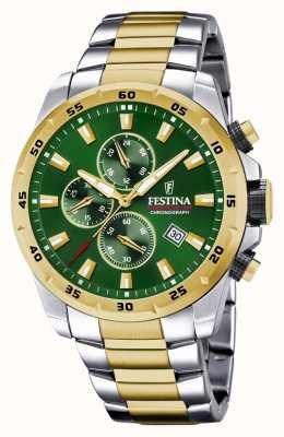 Festina Montre chronographe pour homme à cadran vert F20562/3